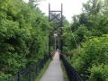 Suspension Bridge onto Grist Mill Trail