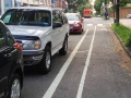 Two way bike lanes on one way street :)