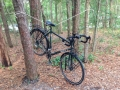 Rope bike stand