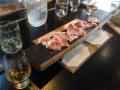Sliced pork and burbon