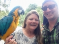 Kim and one of her MaCaws