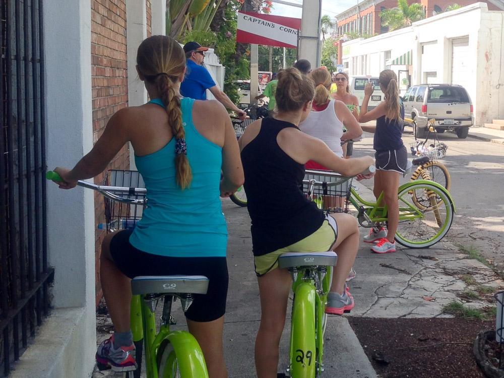 Sara giving a Key Lime Bike Tour
