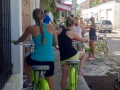 Sara giving a Key Lime Bike Tour