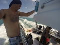 Me on the dive boat staying hydrated